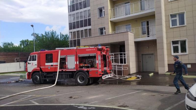 Возгорание в г. Красноярске